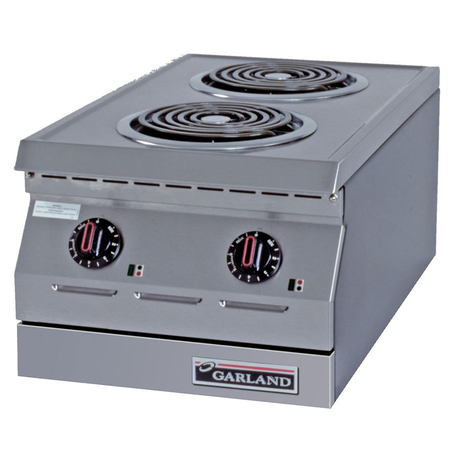"Garland / US Range 208V 3 Phase Garland ED-15H Designer Series 15"" Two Burner Electric Countertop Hot Plate - 7 1/2"" Open Elements at Sears.com"