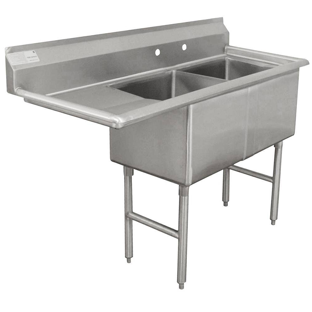 Commercial Sinks Australia : ... Stainless Steel Commercial Sink with One Drainboard - 56 1/2