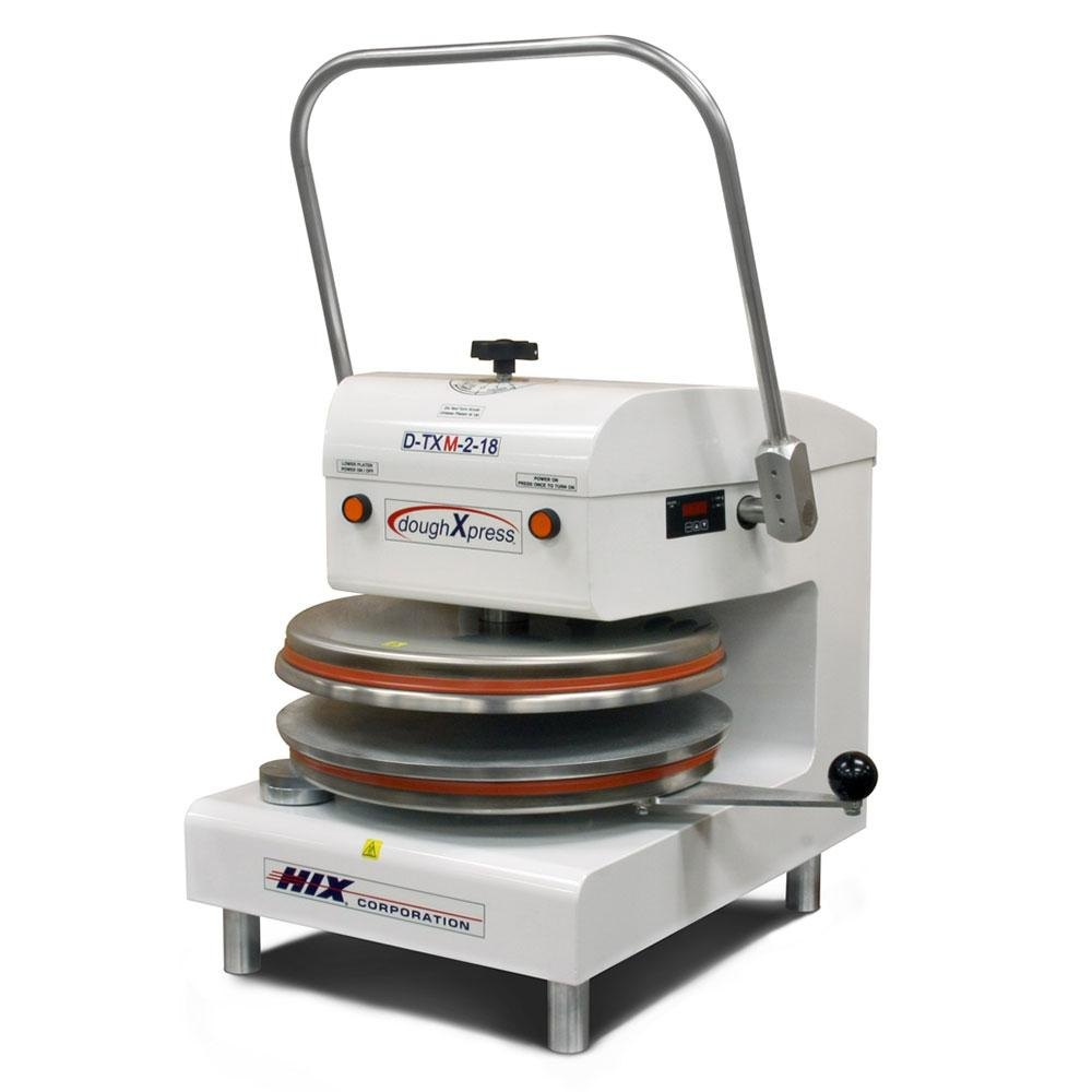 "DoughXpress D-TXM-2-18-WH Dual Heat Round Manual Tortilla Press 18"" - White, 220V at Sears.com"