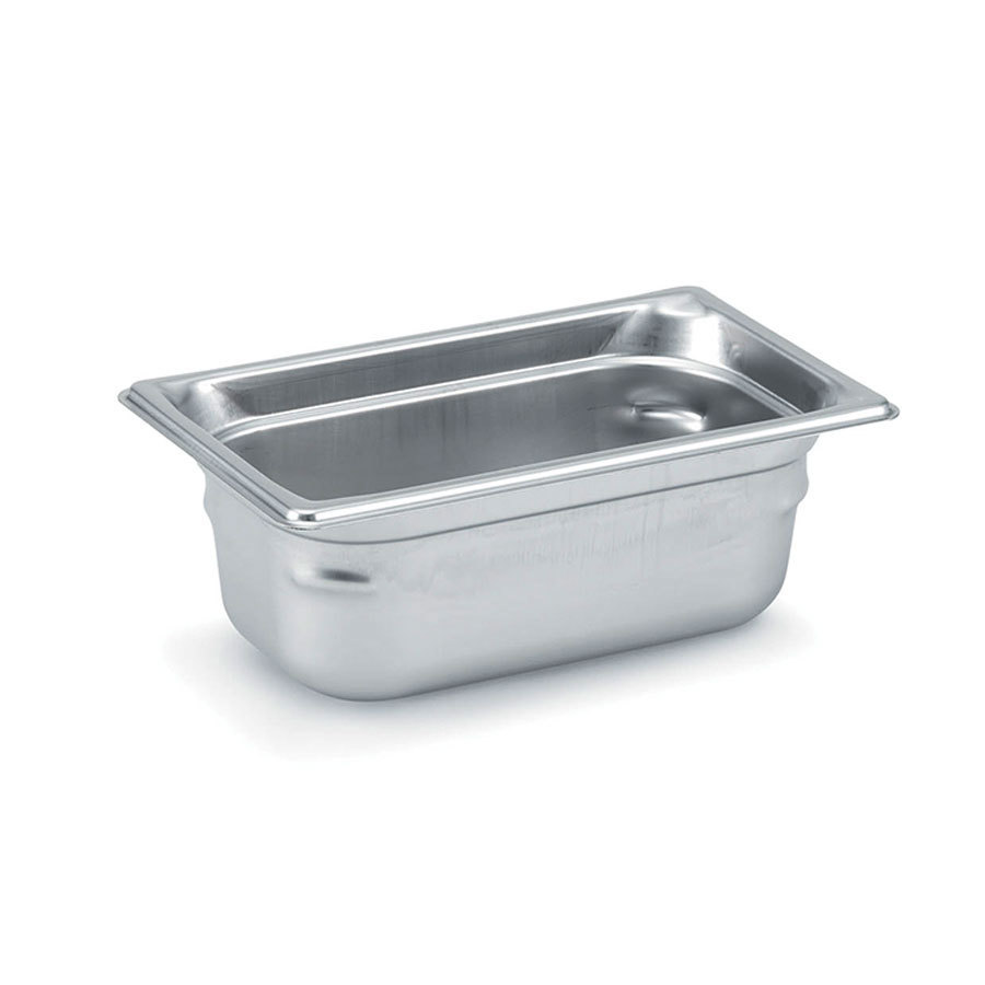 Vollrath 90452 Super Pan 3 Stainless Steel 1/4 Size Anti-Jam Steam Table Pan - 2 inch Deep