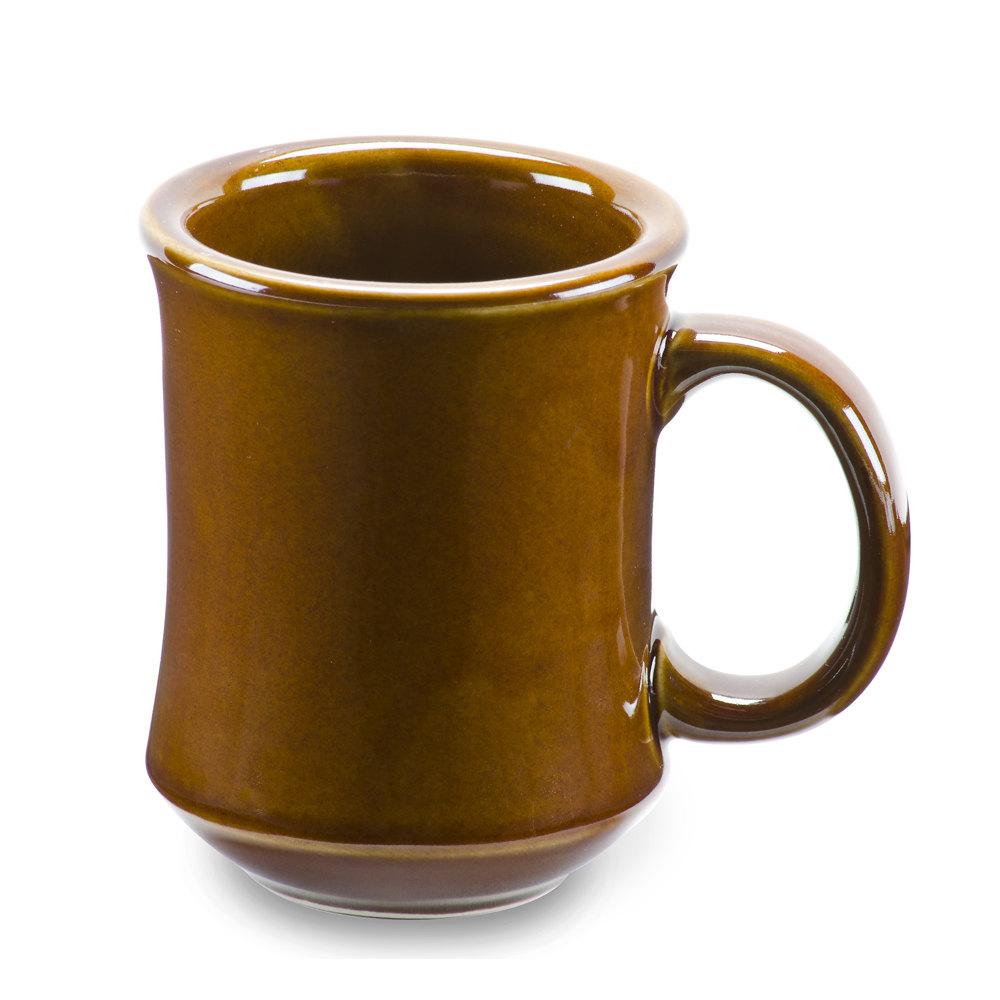 Cac Pm 7 C Brown Bell Shaped 7 Oz China Coffee Mug 12