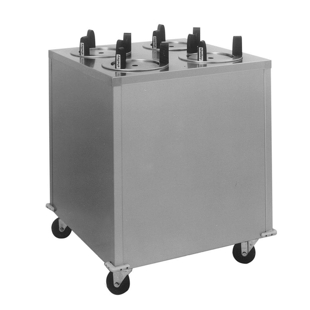 "Delfield CAB4-650ET Even Temp Mobile Enclosed Four Stack Heated Dish Dispenser / Warmer for 5 3/4"" to 6 1/2"" Dishes - 208V"