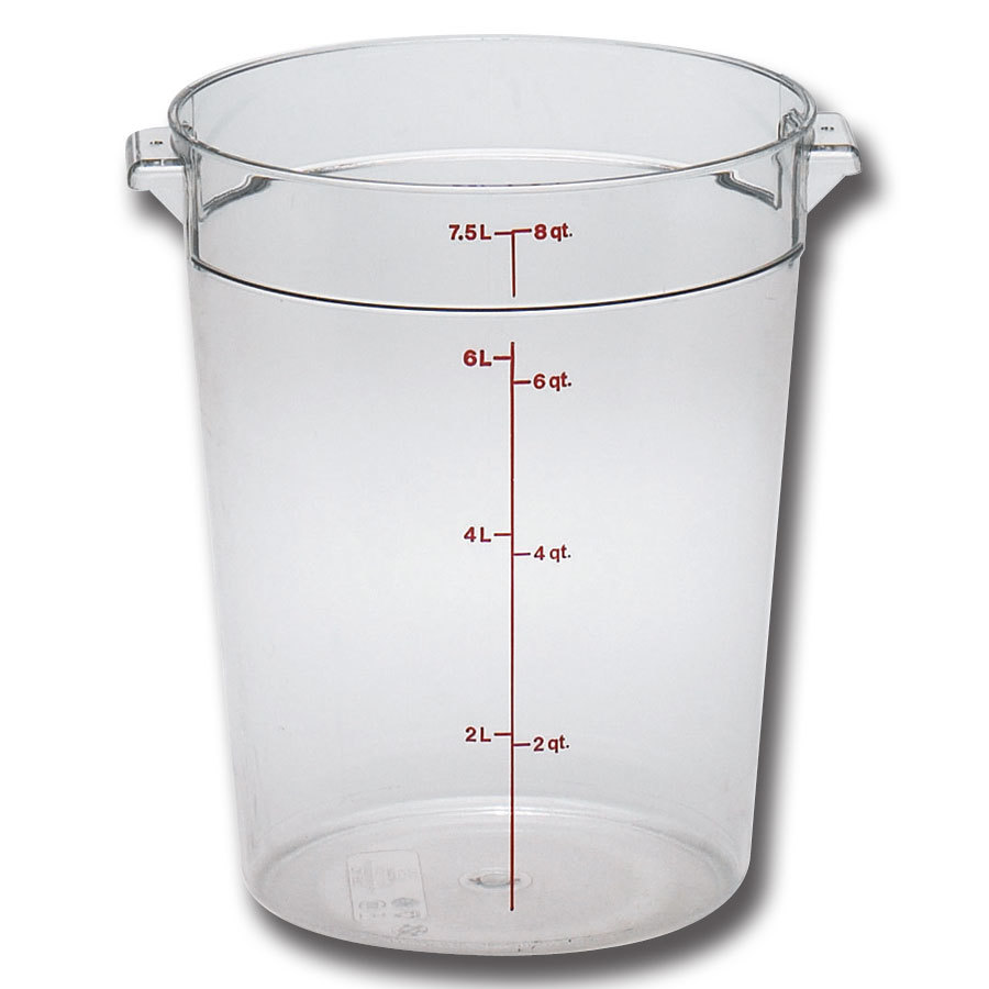 cambro rfscw8 camwear 8 qt clear round food storage container. Black Bedroom Furniture Sets. Home Design Ideas