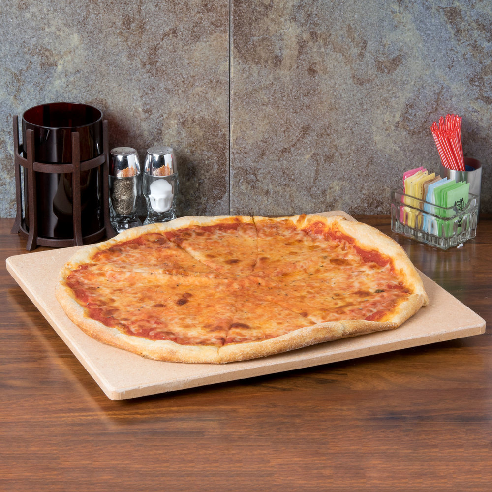 "American Metalcraft PS1416 14"" x 16"" Rectangular Cordierite Pizza Stone"