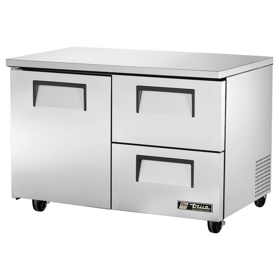 True TUC-48D-2 48 inch Deep Undercounter Refrigerator with One Door and Two Drawers