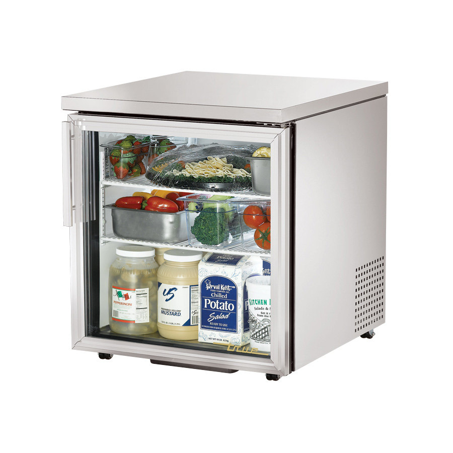 True TUC-27G-LP 27 inch Low Profile Glass Door Undercounter Refrigerator