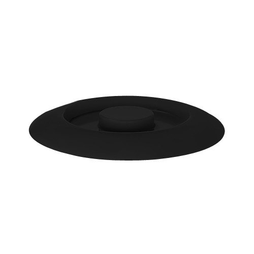 "GET TS-800-L Black 7 3/4"" Melamine Replacement Lid for TS-800 7 3/4"" Tortilla Server - 12/Pack"
