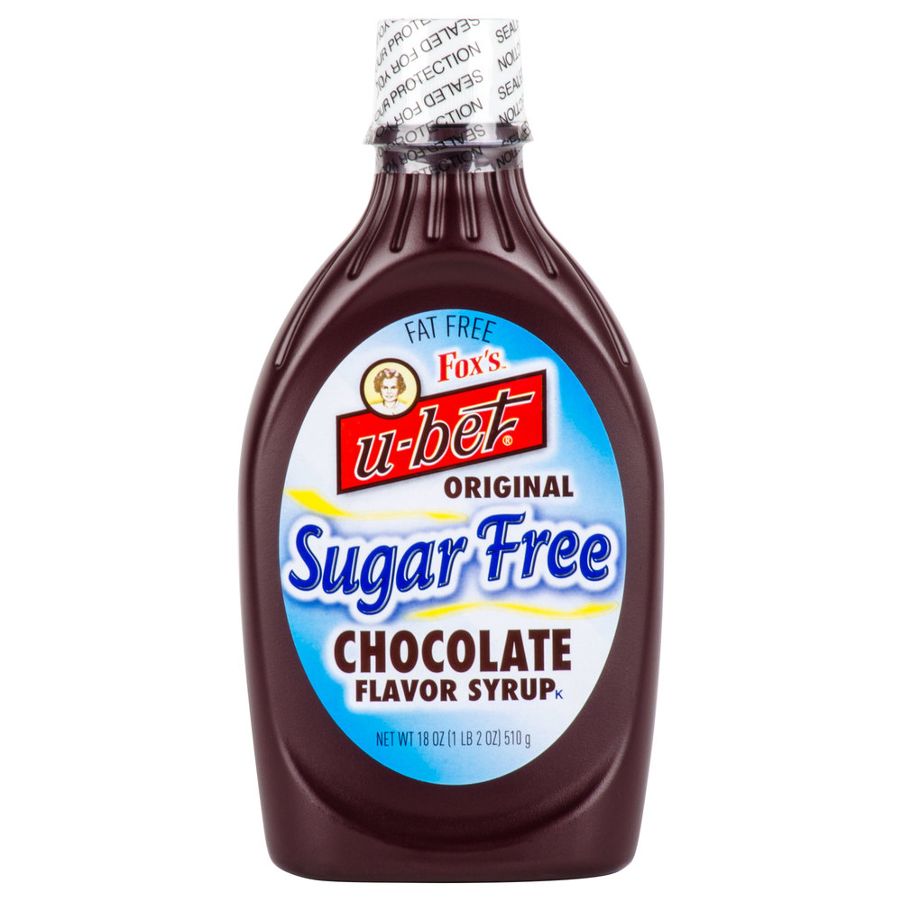 Foxs U Bet Sugar Free Chocolate Syrup 18 Oz Squeeze Bottle