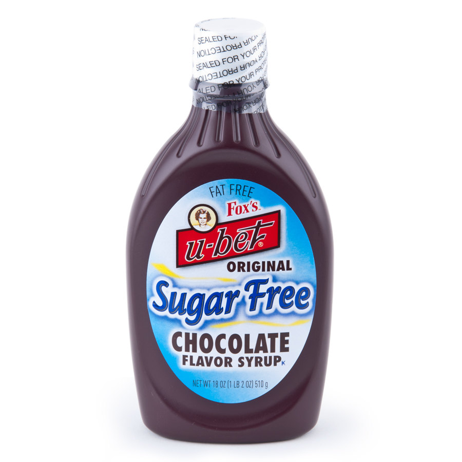 Fox's U-Bet Sugar Free Chocolate Syrup 18 oz. Squeeze Bottle