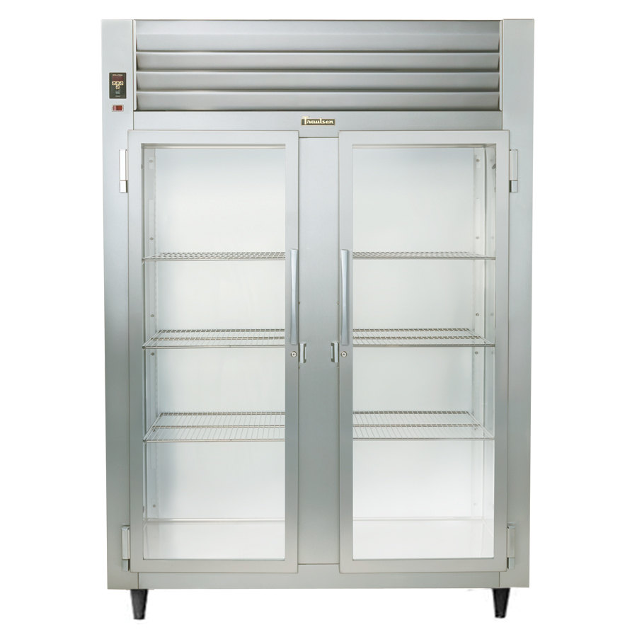 Traulsen Stainless Steel RHF232WP-FHG 55.8 Cu. Ft. Glass Door Two Section Reach In Pass-Through Heated Holding Cabinet - Specification Line