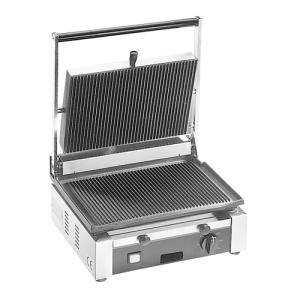 Cecilware TSG-1F Single 14 1/2 inch x 10 inch Panini Sandwich Grill with Flat Surfaces - 120V