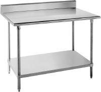 "Advance Tabco 16 Gauge Advance Tabco KMG-368 36"" x 96"" Stainless Steel Commercial Work Table with 5"" Backsplash and Undershelf at Sears.com"