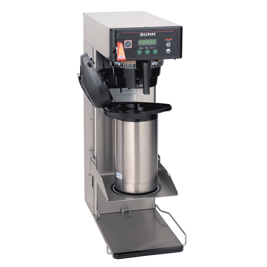 Dual Coffee Maker Hot Water Dispenser : Bunn Infusion ITCB-DV Coffee and Tea Brewer with 25 3/4