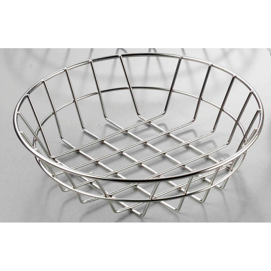 american metalcraft wiss8 stainless steel round wire basket 8. Black Bedroom Furniture Sets. Home Design Ideas