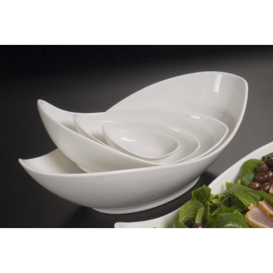 American Metalcraft Pldb38 1 Oz Porcelain Leaf Bowl