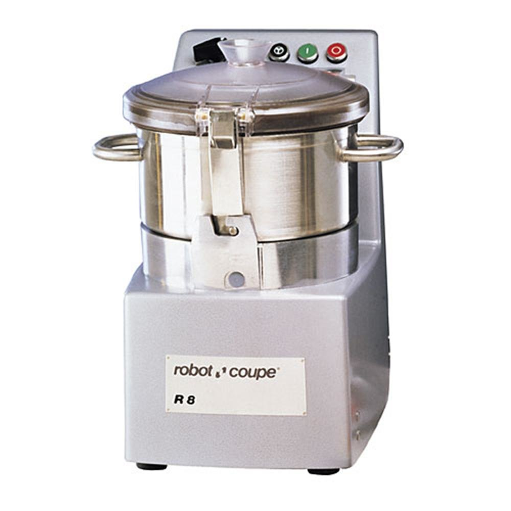 Robot Coupe R8 8 Qt. Vertical Food Processor with Stainless Steel Bowl - 208/240V, 3 Phase
