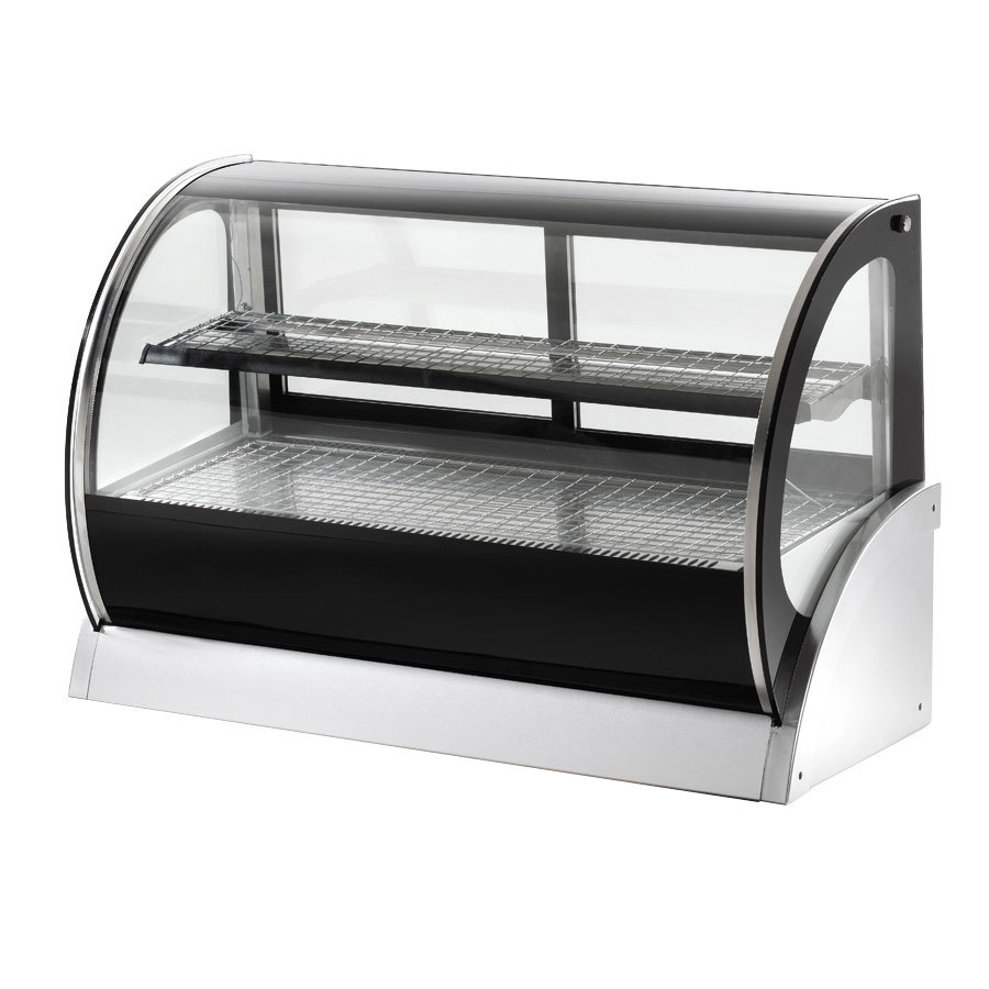 "Vollrath 40854 60"" Curved Glass Refrigerated Countertop Display Cabinet"