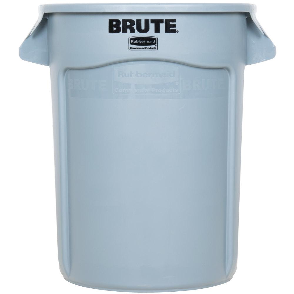 Rubbermaid Kitchen Trash Cans #34: Rubbermaid FG263200GRAY BRUTE 32 Gallon Gray Trash Can ...