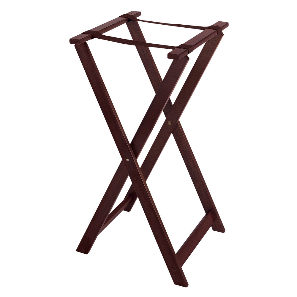 "Folding Jack Stands >> GET TSW-103 Folding Mahogany 31 1/2"" Wood Tray Stand"