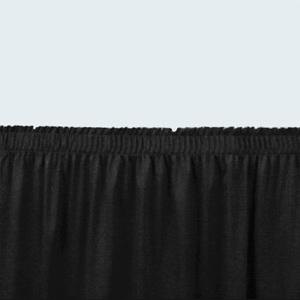 "National Public Seating SS8-96 Black Shirred Stage Skirt for 8"" Stage - 7"" x 96"""