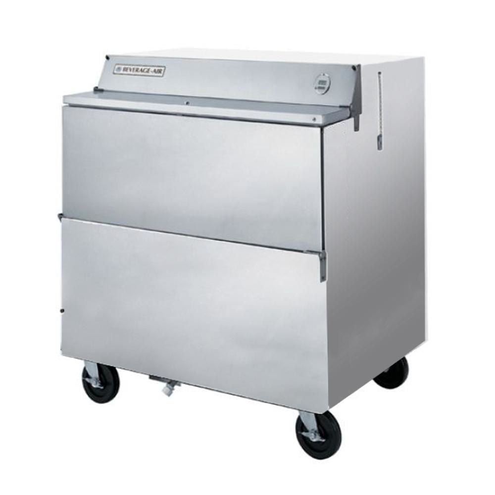 Beverage Air SMF34Y-1-S Stainless Steel Forced Air Milk Cooler 1 Sided - 34""