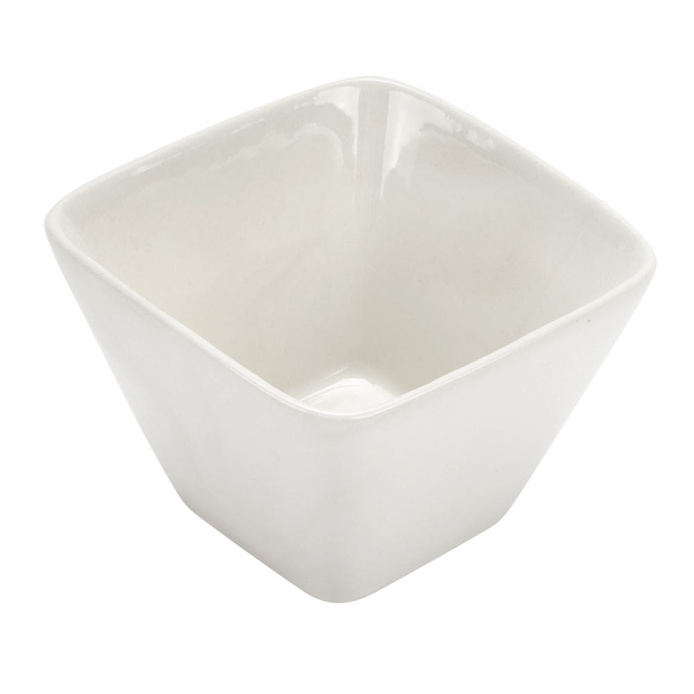 American Metalcraft PORB29 4 oz. White Square Porcelain China Sauce Cup