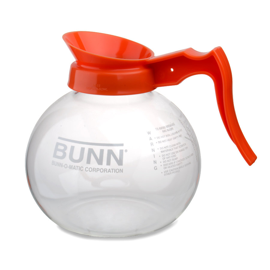 Bunn 42401.0024 Glass Coffee Decanter with Orange Handle - 64 oz.