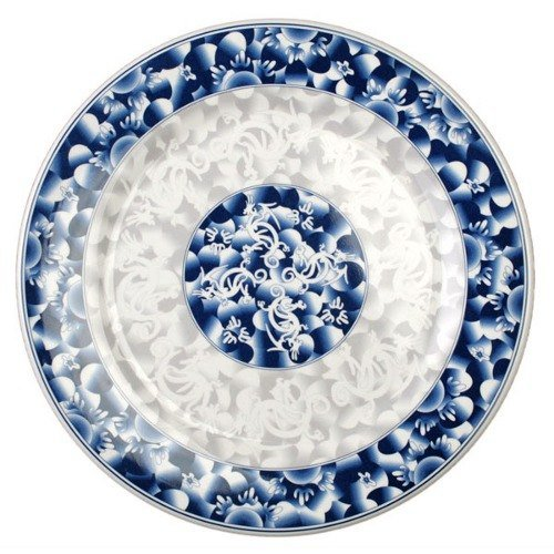 "Blue Dragon 10 3/8"" Round Melamine Plate - 12 / Pack"