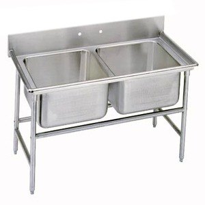 "Advance Tabco 93-22-40 Regaline Two Compartment Stainless Steel Sink - 52"" at Sears.com"