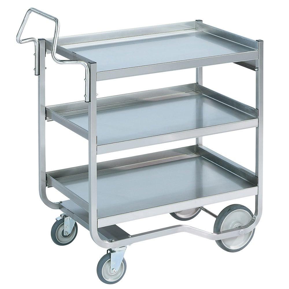 Metal Utility Cart: Vollrath 97211 Knock Down Heavy-Duty Stainless Steel 3