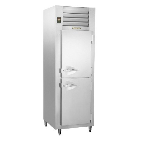 Traulsen RLT132DUT-HHS Stainless Steel 17.7 Cu. Ft. One-Section Solid Half Door Narrow Reach-In Freezer - Specification Line