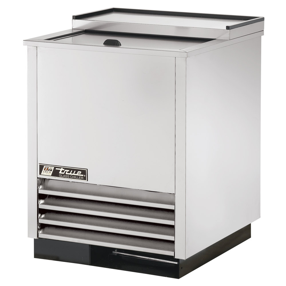 "True T-24-GC-S 24"" Stainless Steel Glass and Plate Chiller"