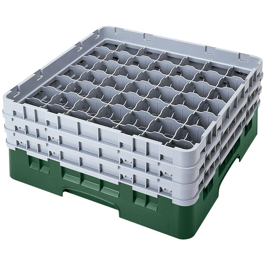 "Cambro 49S318119 Sherwood Green Camrack 49 Compartment 3 5/8"" Glass Rack"