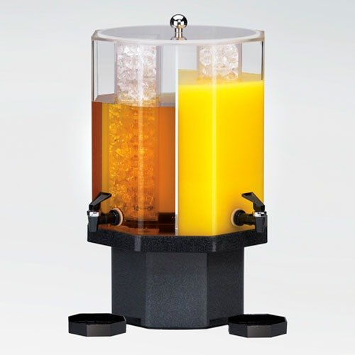 Cal Mil 971-5-24 5 Gallon Classic Dual Chamber Beverage Dispenser with Mirror Base - 13 inch x 13 inch x 22 inch
