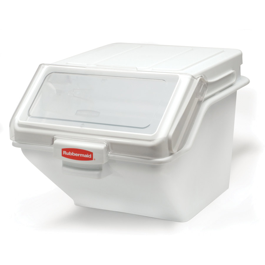 Rubbermaid 9G58 ProSave 12.63 Gallon Safety Storage Ingredient Bin with 2 Cup Scoop (FG9G5800)
