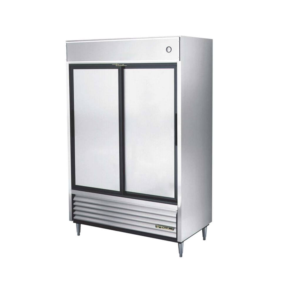 True TSD-47 Two Section Sliding Solid Door Reach In Refrigerator - 47 Cu. Ft.