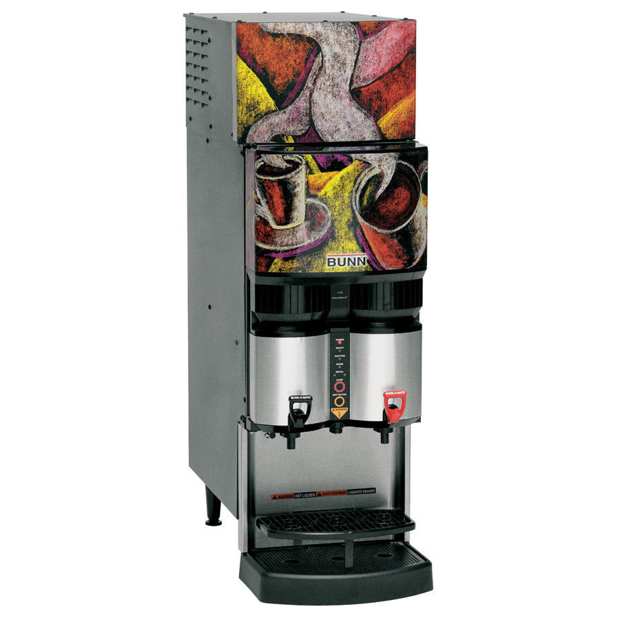 Bunn 34400.0038 LCR-2 Refrigerated Liquid Coffee Dispenser with LiquiBox QC/D II Connector - 120V