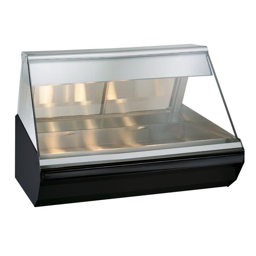 Alto-Shaam EC2-48/P BK Black Heated Display Case with Angled Glass - Self Service 48""
