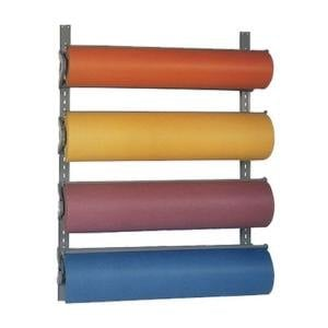 "Bulman T293-12 12"" Horizontal Four Paper Roll Wall Rack"