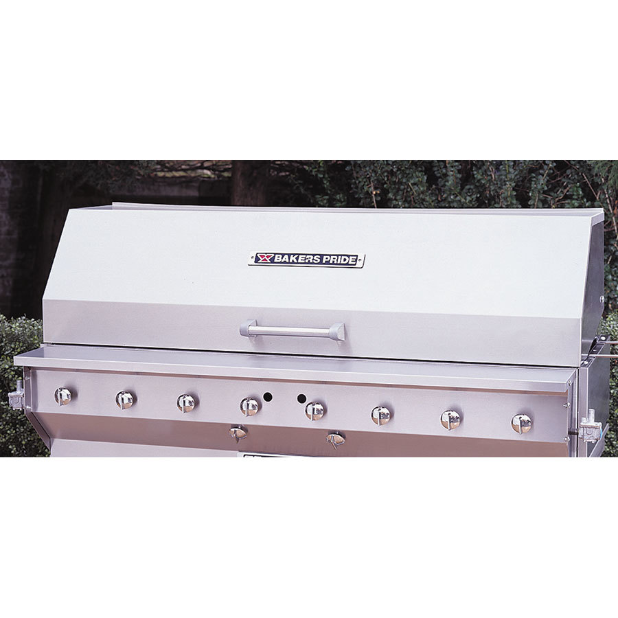 "Bakers Pride 21841030 60"" Stainless Steel Smoke and Roast Roll Top Hood"