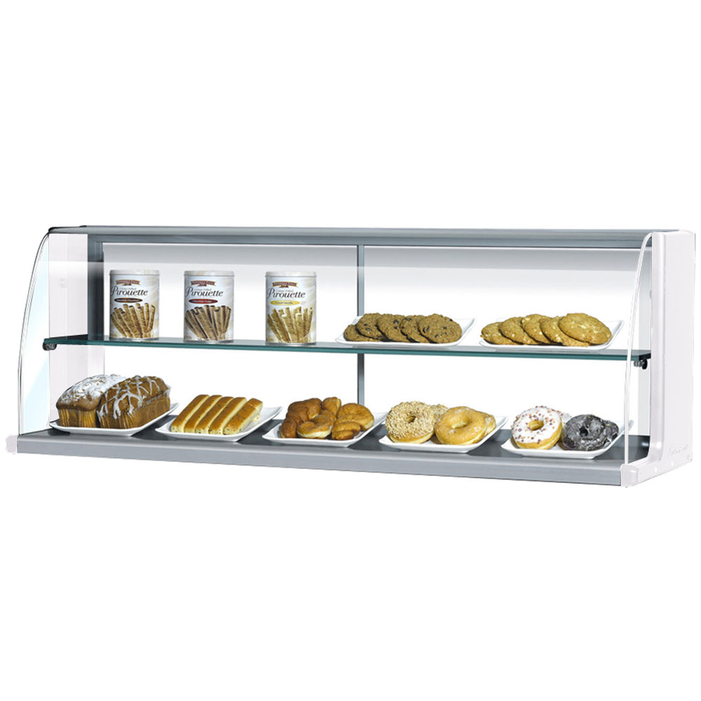 "Turbo Air TOMD-30-H 28"" Top Dry Display Case for Turbo Air TOM-30S Slim Line Open Display Case - White"