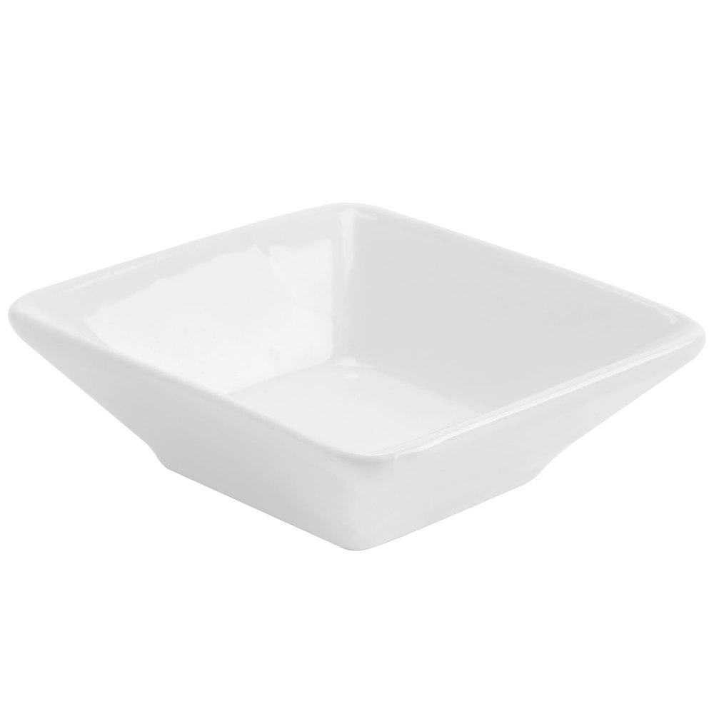 American Metalcraft PORD39 2 oz. White Square Porcelain Sauce Cup