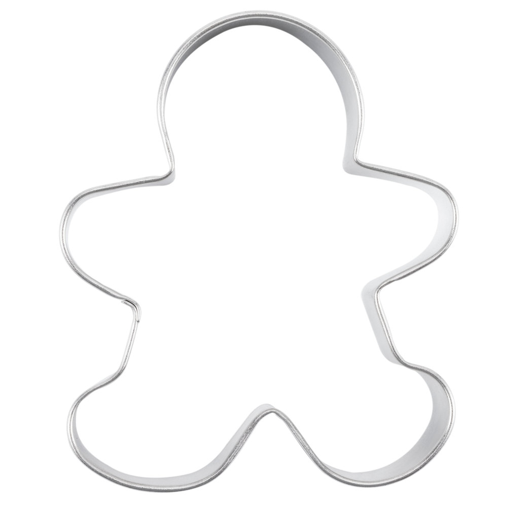 "Wilton 2308-1002 3 1/2"" Metal Gingerbread Man Cookie Cutter"