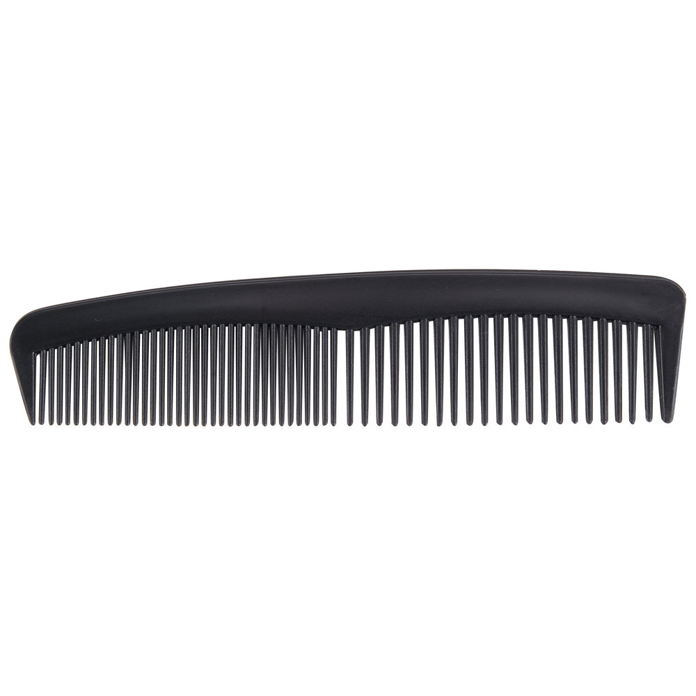 "5"" Black Comb Individually-Wrapped in Poly Bag - 1440/Case"