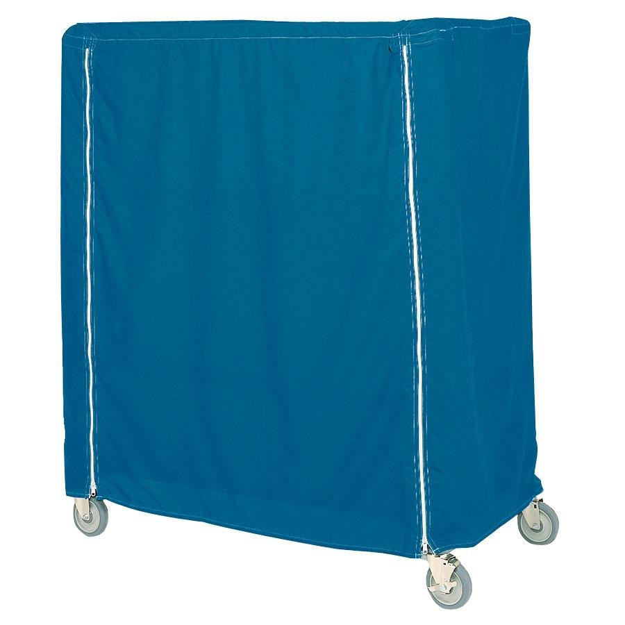 "Metro 18X60X62UCMB Mariner Blue Uncoated Nylon Shelf Cart and Truck Cover with Zippered Closure 18"" x 60"" x 62"""