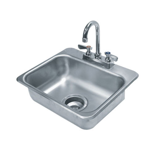"Advance Tabco DI-1-35 Drop In Stainless Steel Sink - 14"" x 10"" x 5"" Bowl"