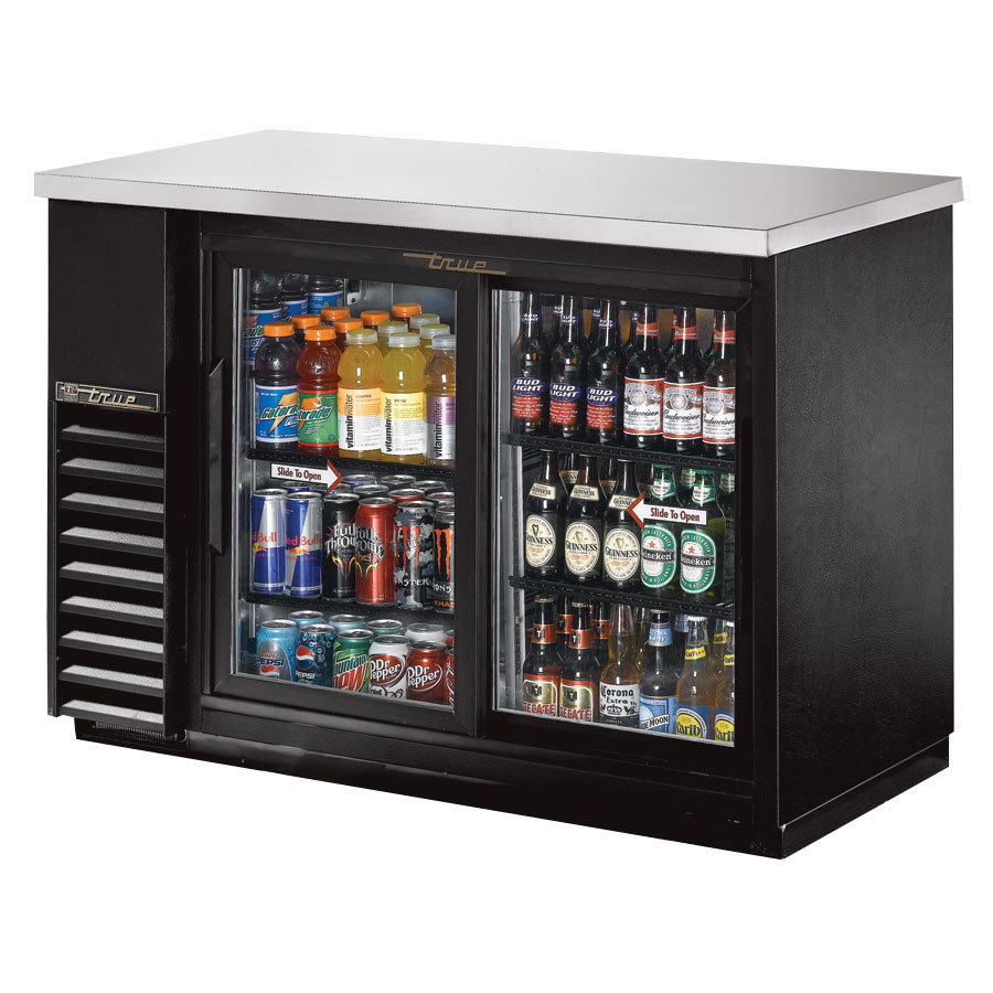 "True Refrigeration True TBB-24-48G-SD 49"" Back Bar Refrigerator with Sliding Glass Doors 115V at Sears.com"