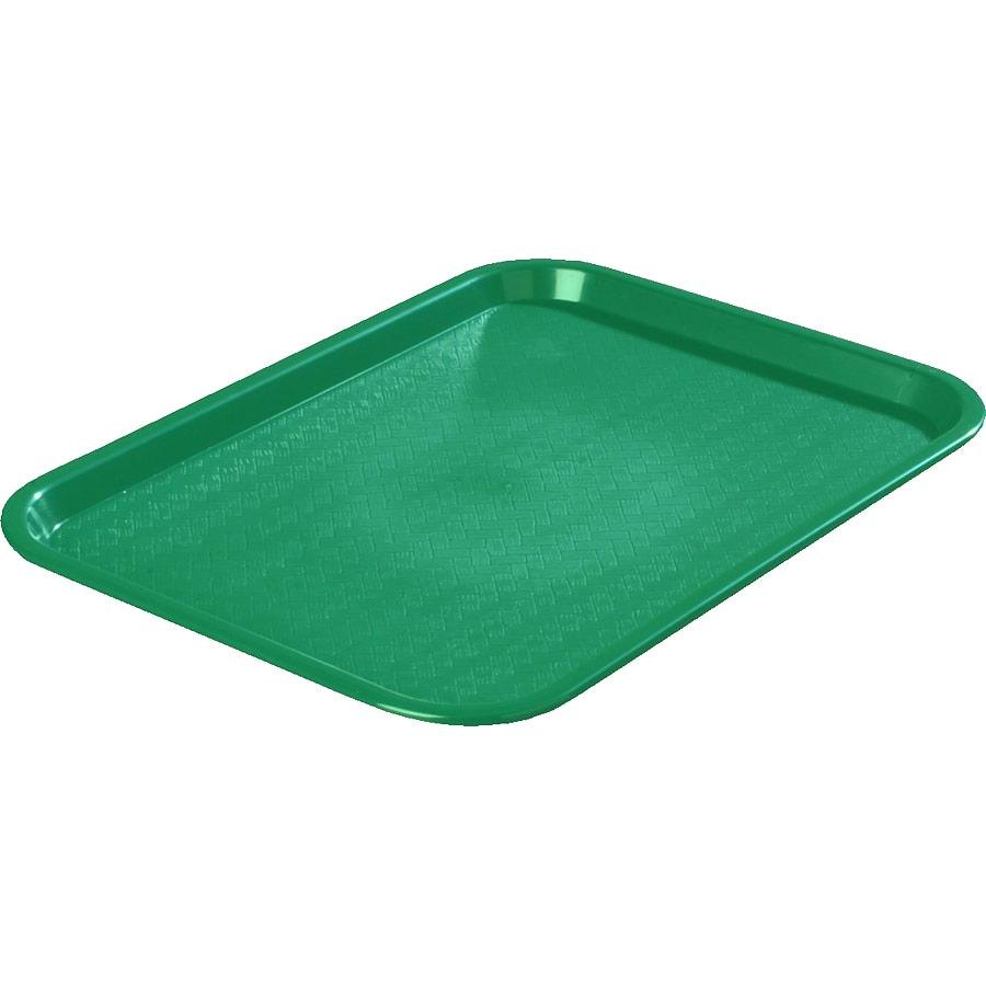 "Carlisle CT101409 Customizable Cafe 10"" x 14"" Green Standard Plastic Fast Food Tray - 24/Case"