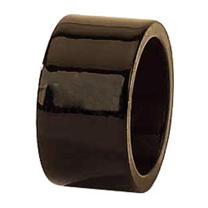 "Tabletop Classics AC-6512BR Brown 1 3/4"" Round Acrylic Napkin Ring"
