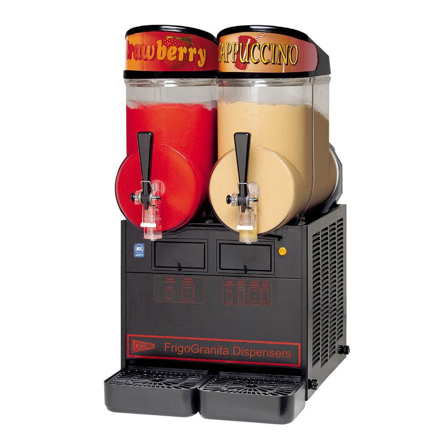 Grindmaster Cecilware Cecilware FrigoGranita MT2ULAFBL Black Double 2.5 Gallon Slush Machine - 120V at Sears.com